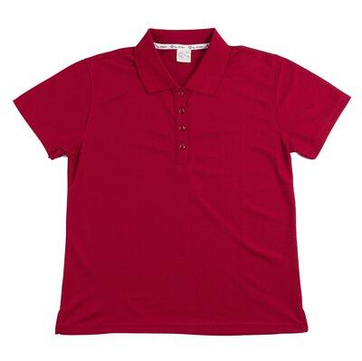 MIT 306 – 暗紅色涼感紗吸濕排汗運動短袖POLO衫(正)