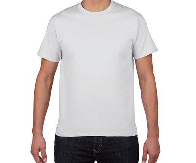 GILDAN HA00 - 6.1oz 白色純棉亞規厚磅中性圓領短T(正)
