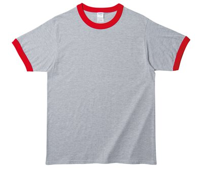 GILDAN 76600 - 5.3oz 運動灰滾紅色邊純棉亞規中性圓領短T