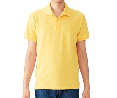 GILDAN 6800 - 6.5oz 黃色純棉亞規中性短袖POLO衫(正)
