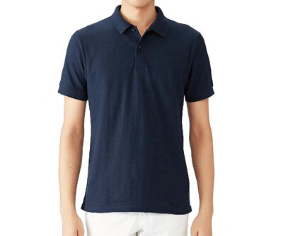 GILDAN 95800 - 6oz 藏青色棉質亞規中性短袖網眼POLO衫(正)