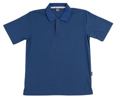 MIT 106 – 暗墨藍色涼感紗吸濕排汗運動短袖POLO衫