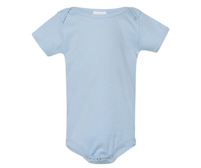 Gildan 64ZEE 5.5oz 水藍色純棉北鼻包屁衣