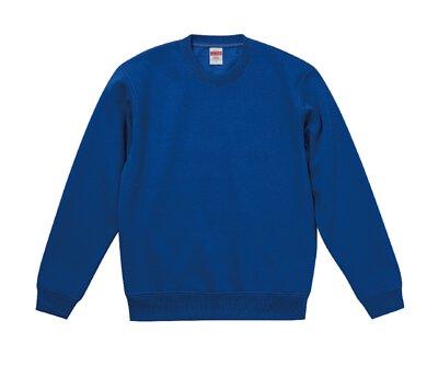 UnitedAthle 3592801 - 10oz 寶藍色棉質內刷毛中性圓領大學T(正)
