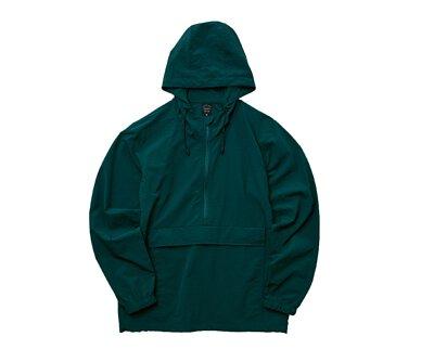 UnitedAthle 3721101 - 古董綠色棉花狀尼龍連帽防風上衣