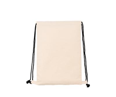 台灣製純棉帆布環保無毒 - 束口後背包(黑繩)