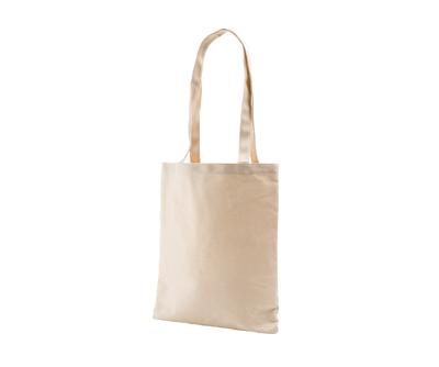 台灣製純棉帆布環保無毒 - 胚布色平口袋