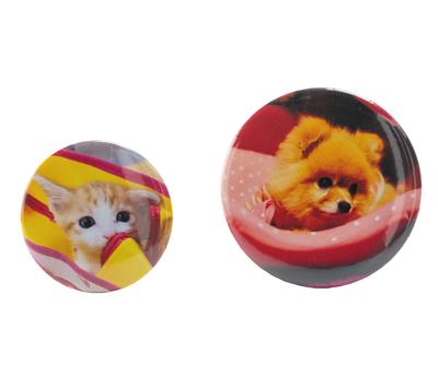 印上貓咪照片的客製化磁鐵胸章(正面)
