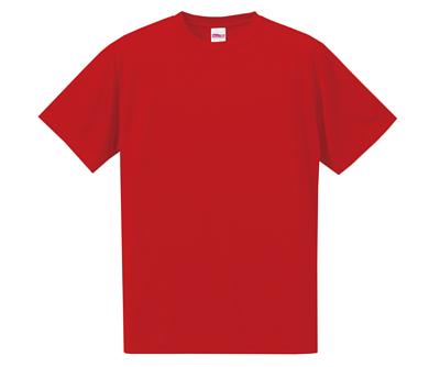 United Athle 35088 4.7oz 紅色絲綢觸感的吸濕排汗中性短T
