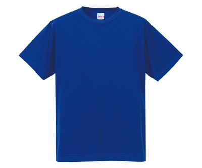 United Athle 35088 4.7oz 鈷藍色絲綢觸感的吸濕排汗中性成人短T(正)