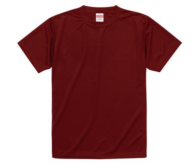 United Athle 35088 4.7oz 酒紅色絲綢觸感的吸濕排汗兒童短T(正)