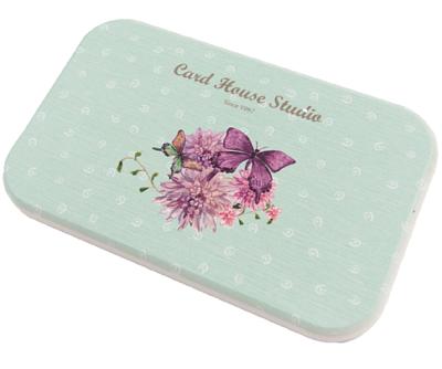 印有蝴蝶與花卉的硅藻土杯墊、多用途吸水墊 (8x13公分)
