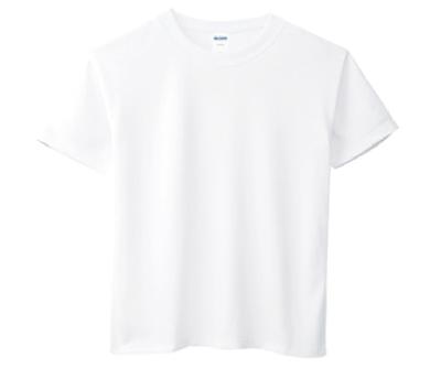 GILDAN3BI00 - 3.8oz 白色亞規抗UV吸濕排汗圓領短T