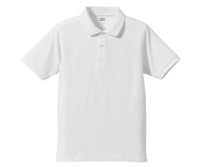 United Athle 3505001 - 5.3oz 白色吸濕排汗除臭抗UV網眼短袖POLO衫(正)