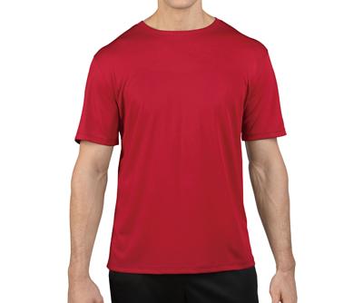 GILDAN3BI00 - 3.8oz 鮮焰紅色亞規抗UV吸濕排汗圓領短T(正)