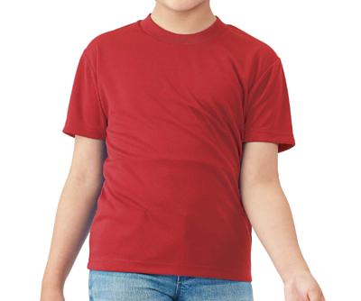 GILDAN4BI00B - 4.6oz 鮮焰紅色亞規兒童抗UV吸濕排汗圓領短T(正)