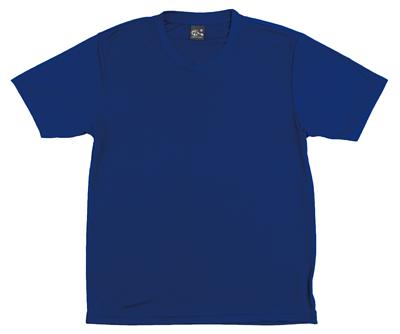 MIT 207 - 寶藍色50丹超特細圓領短T(正)