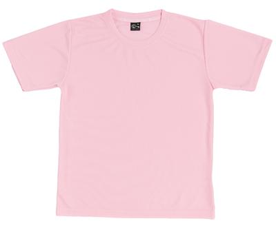 MIT 201 - 粉紅色中空紗排汗圓領短T(正)
