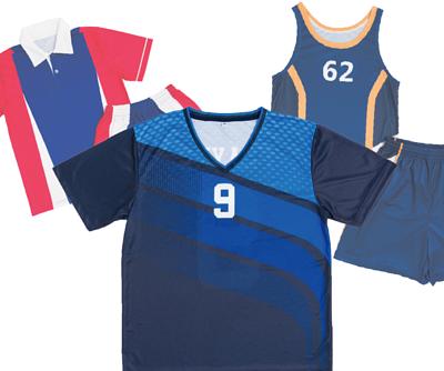 滿版熱昇華 - V領運動衣、無袖籃球衣、POLO足球衣