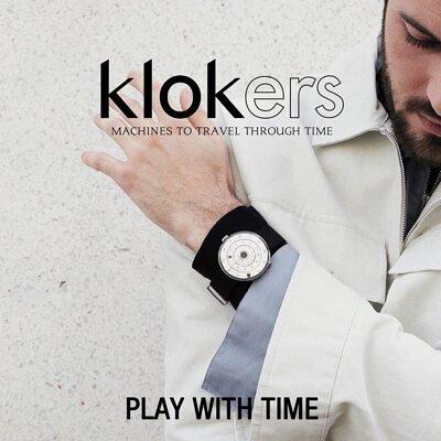 klokers ,KLOK-01,庫克錶,文青,復古,皮革錶帶,一錶多戴
