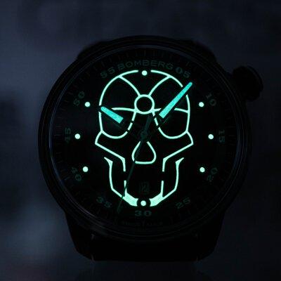 炸彈錶,瑞士製造,一錶二用,自動機械錶,都會時尚,BB-01 AUTOMATIC,火焰骷髏