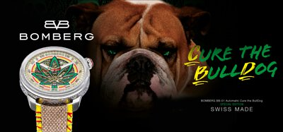 BOMBERG BB-01 Automatic Cure the BullDog SPECIAL EDITION SWISS MADE