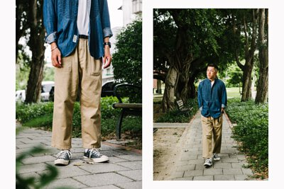 gramicci, unisex, loose tapered, pants