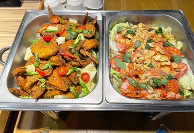 泰式炸雞翅&蒜香白酒紅蝦