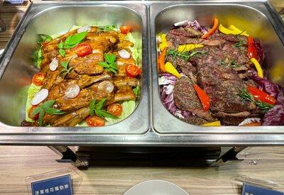 洋蔥桂花豬肋排&迷迭香鹽烤板腱牛