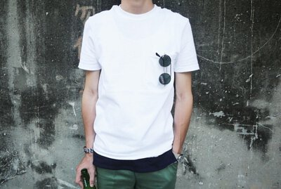 Bread&Boxers T恤材質親膚舒適,怕單穿太透可選擇多層次穿搭