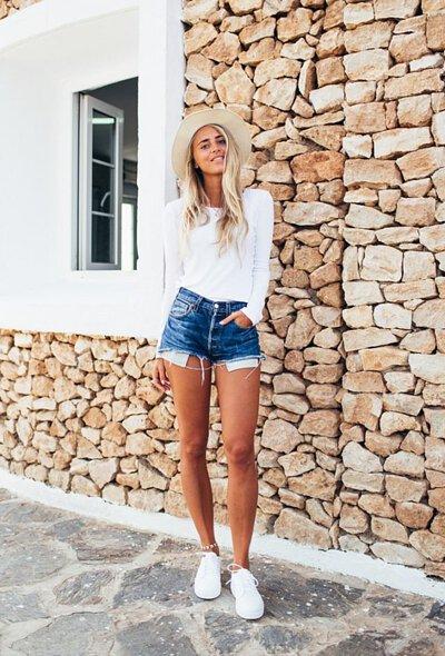白t牛仔短褲12