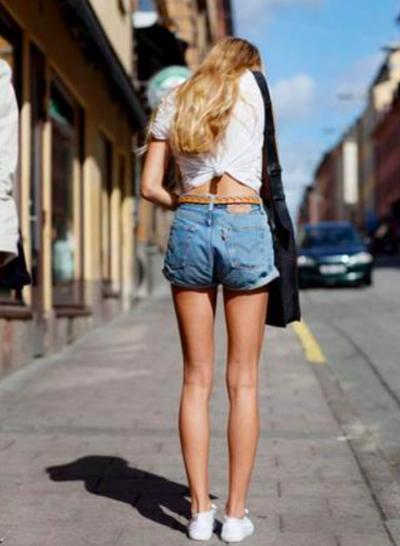 白t牛仔短褲3