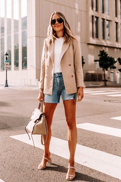 白t牛仔短褲1