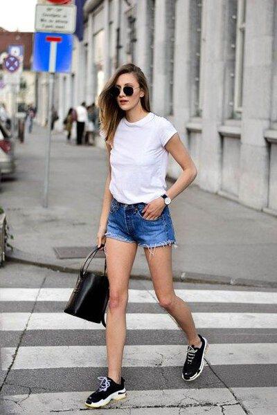 白t牛仔短褲2