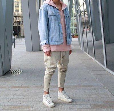 灰色棉褲穿搭-3