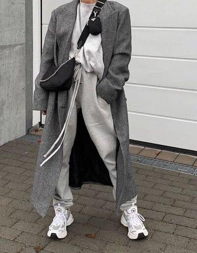 灰色棉褲穿搭-13