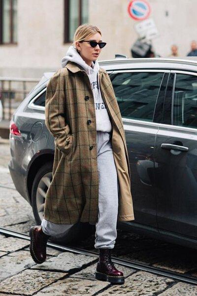 灰色棉褲穿搭-15