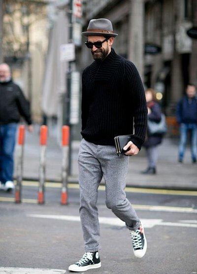 灰色棉褲穿搭-5