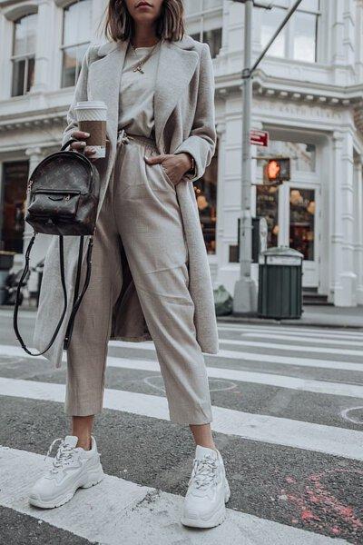 灰色棉褲穿搭-14