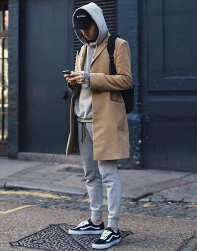 灰色棉褲穿搭-12