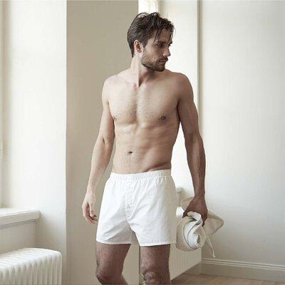 Boxer Brief 寬鬆舒適有機棉四角男用內褲-男model示範照