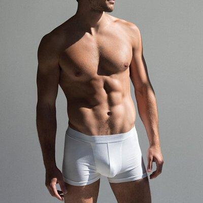 男用內褲推薦單品:Boxer Brief 舒適有機棉男用四角內褲-白