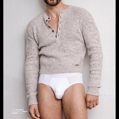 Bread & Boxers Brief 舒適有機棉三角男用內褲-model示範照