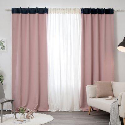 遮光窗簾 ❘ 粉色鯨魚