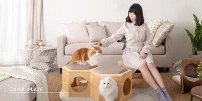六角貓跳台,六角貓椅子,貓隧道,貓椅子,貓玩具,六腳貓桌子