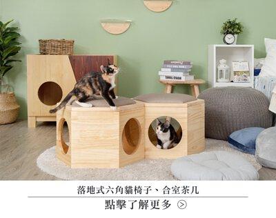 六角貓跳台,六角椅子,六角跳台,貓椅子,貓用品,貓玩具