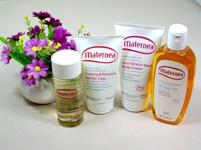 Maternea台灣準媽媽分享 防妊娠紋美體霜, 彈力滋養油 對抗可怕的妊娠紋