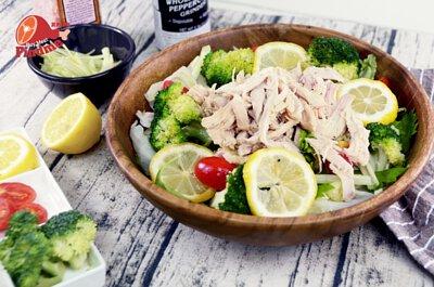 【蛋白質補給站】減脂好幫手~嫩雞胸和風沙拉-怎麼拌都好吃!