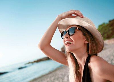 一個女人在海邊