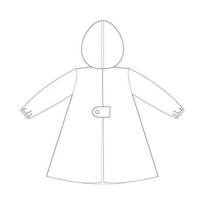 兒童風雨衣背面